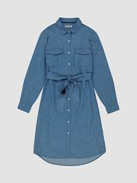 Rosi Chambray Kjole 7246057_JEAN PAUL_S21_ROSI CHAMBRAY DRESS_4_EEK_BLÅ_1299_-front_8247_Rosi Chambray Kjole EEK.jpg_