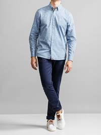 Cyril Printet Skjorte 7231209_JEAN PAUL_CYRIL CHAMBRAY PRINT SHIRT_FRONT1_EOD_Cyril Printet Skjorte EOD.jpg_Front||Front