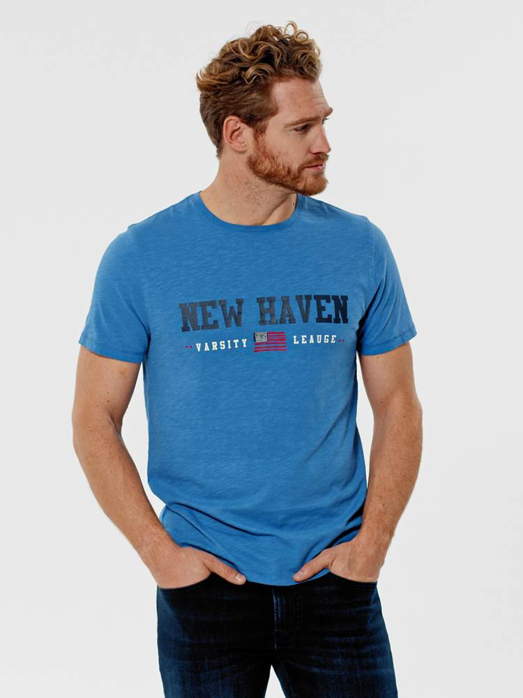 New Haven T-skjorte 7246181_EHG-Redford-S21-Modell-Front_New Haven T-skjorte EHG.jpg_Front||Front