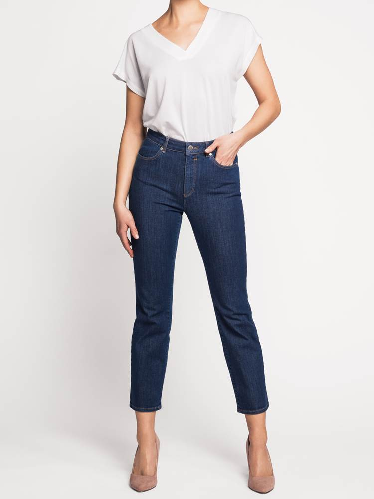Ine Highwaist Straight Jeans - Cropped