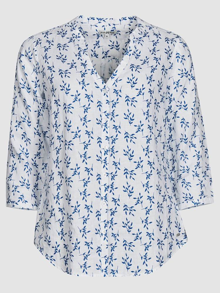 Lucia Blomstret Linbluse 7237958_O68-JEANPAULFEMME-H19-front_53627_Luciafloral Linen Blouse_Lucia Blomstret Linbluse O68.jpg_Front||Front