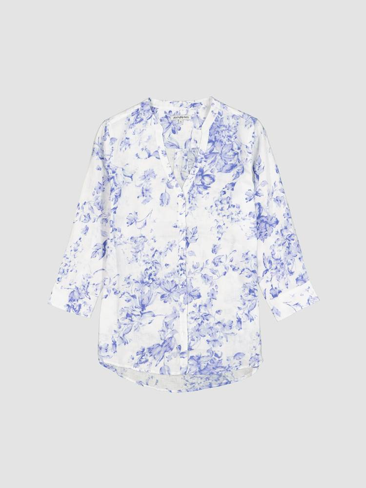 Lucia Printet Linbluse 7246594_ECP-JEANPAULFEMME-H21-front_82124_Lucia Printet Linbluse ECP_Lucia Linen Printed Blouse.jpg_Front  Front