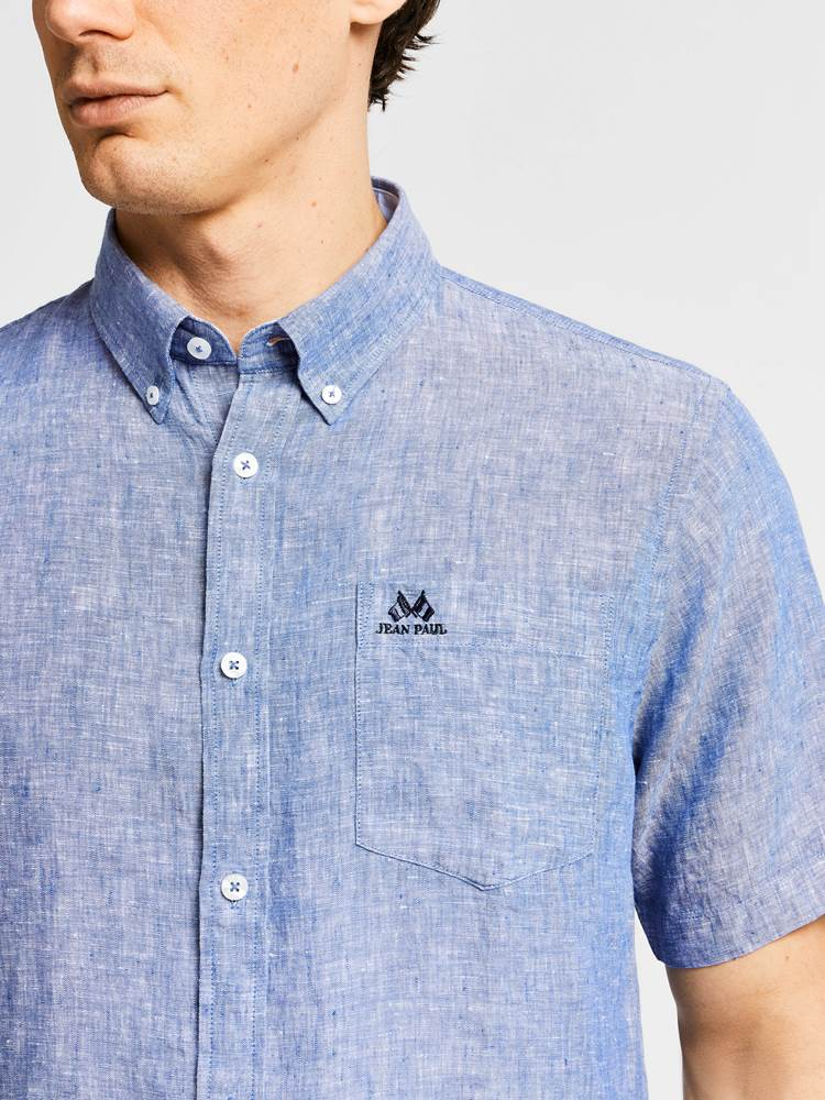 Dillon Linskjorte - Regular Fit 7237904_JEAN PAUL_DILLON LINEN SHIRT_DETAIL_L_EGG_Dillon Linskjorte - Regular Fit EGG.jpg_