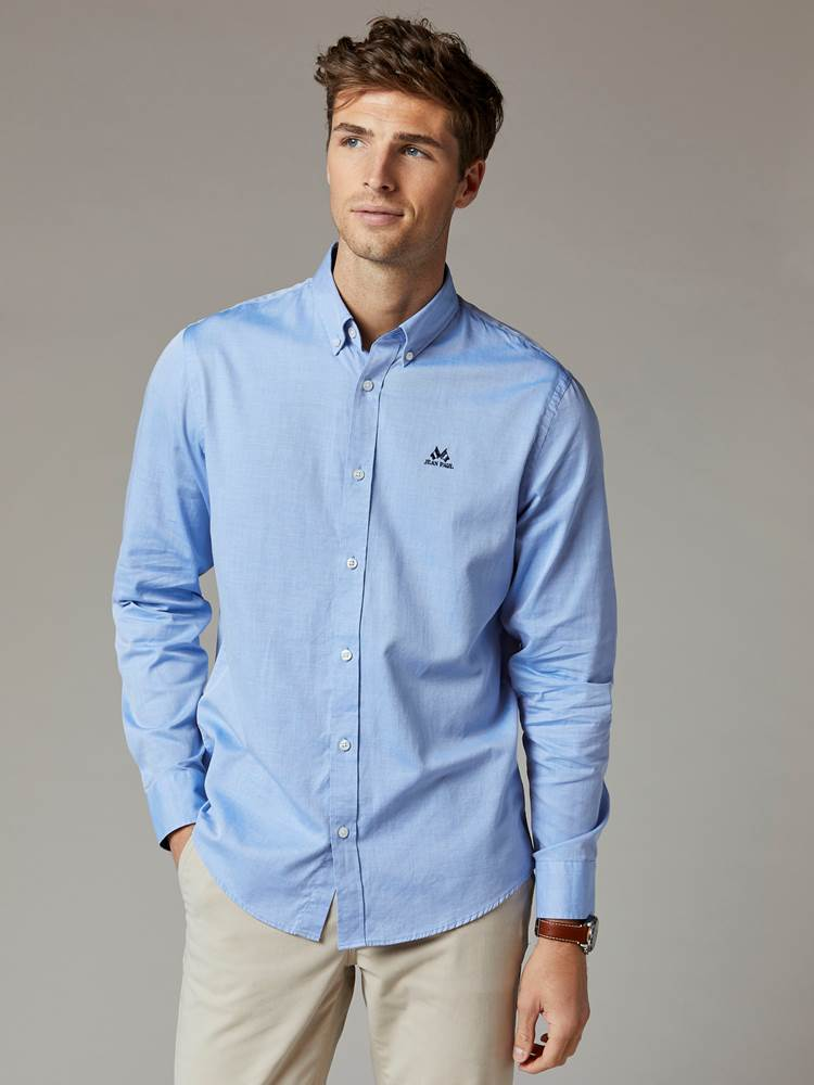 Carl Twill Skjorte - Regular Fit 7241951_EOV-JEANPAUL-S20-Modell-front_65053_Carl Twill Skjorte - Regular Fit EOV.jpg_Front||Front