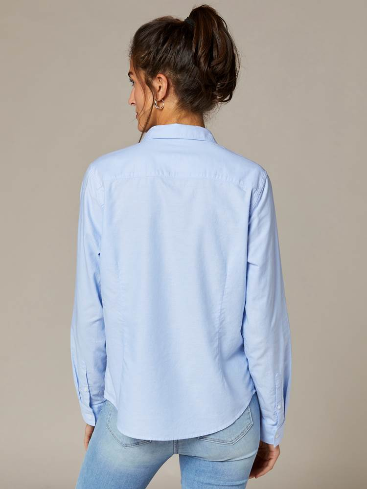 Brielle Oxford Skjorte 7241874_EN3-JEANPAULFEMME-S20-Modell-back_28538_Brielle Oxford Skjorte EN3.jpg_Back||Back