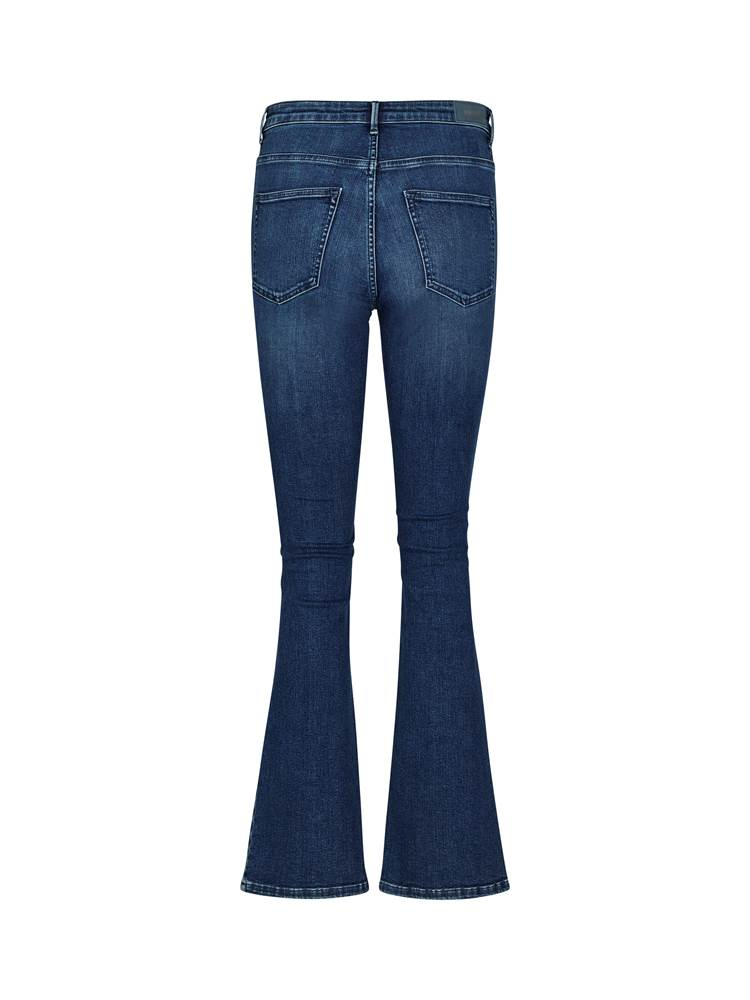 Sophia Flared Regular Jeans 7242264_DAB-VAVITE-S20-back_71546_Sophia HW Flared Ultra Jet Oce_Sophia High Waist Flared Ocean Blue Jeans DAB_Sophia Flared Regular Jeans DAB.jpg_Back||Back