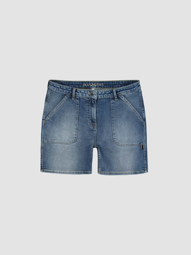 Pipi Denim Shorts 7243065_DAB-JEANPAULFEMME-H20-front_40140_Pipi Denim Shorts_Pipi Denim Shorts DAB.jpg_Front||Front