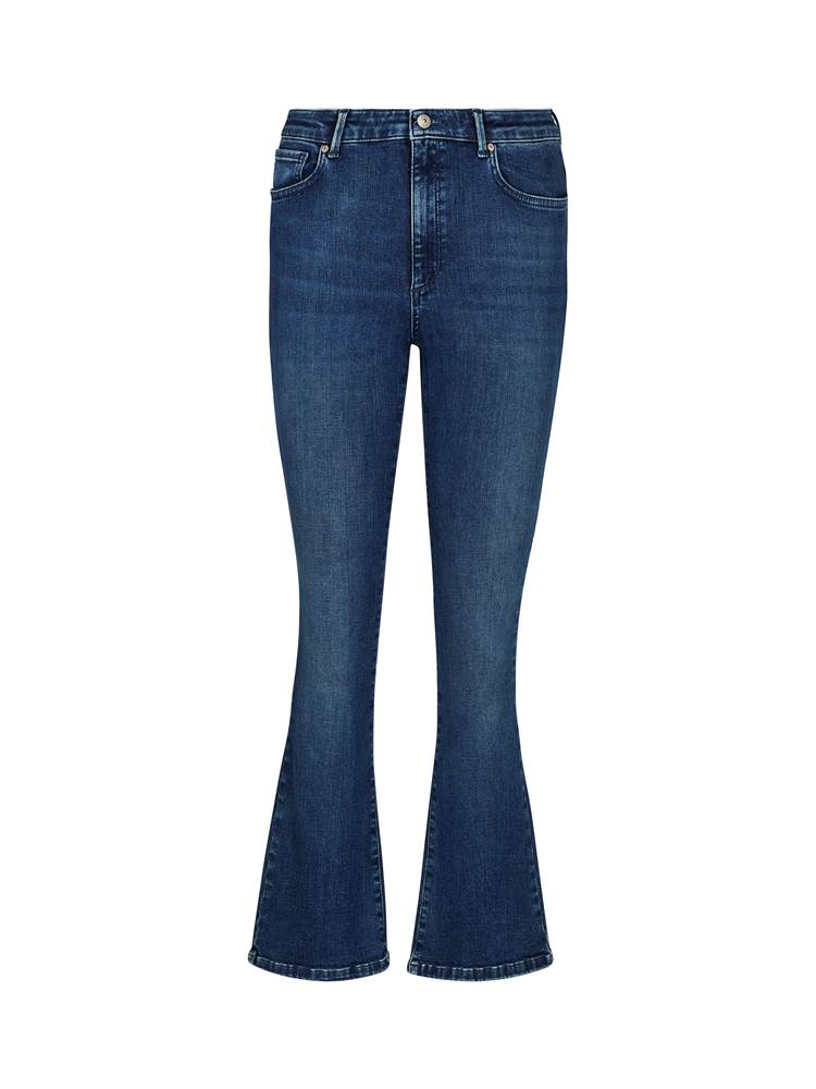 Sophia Flared Cropped Jeans 7241858_DAB-VAVITE-S20-front_97787_Sophia HW Flared Cropped Ultra_Sophia High Waist Flared Cropped Ocean Blue Jeans DAB_Sophia Flared Cropped Jeans DAB.jpg_Front||Front