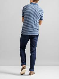 Bleu Stripete Polo Pique 7231244_JEAN PAUL_BLEU STRIPE POLO_BACK_EGU_Bleu Stripete Polo Pique EGU.jpg_Back||Back