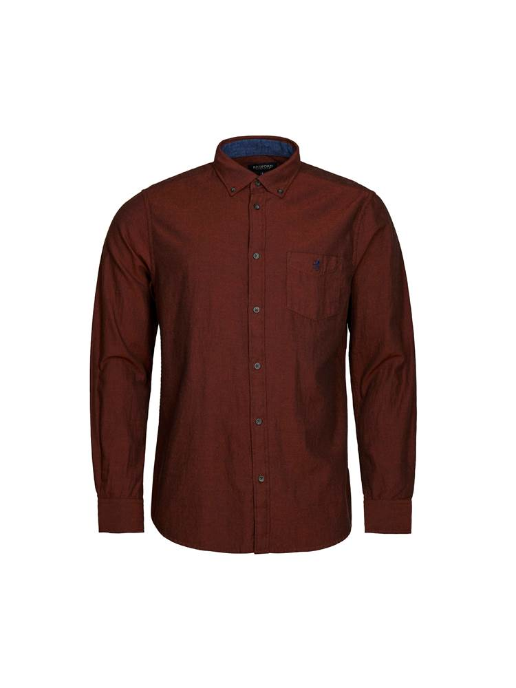 Delting Twill Skjorte 7239255_APA-REDFORD-A19-front_Delting Twill Skjorte_Delting Twill Skjorte APA.jpg_Front||Front