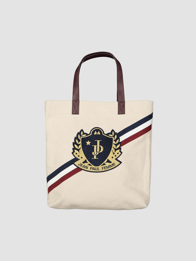 Crest Tote Bag 7238886_OAF-JEANPAULFEMME-A19-front_Crest Tote Bag_Crest Tote Bag OAF.jpg_Front||Front
