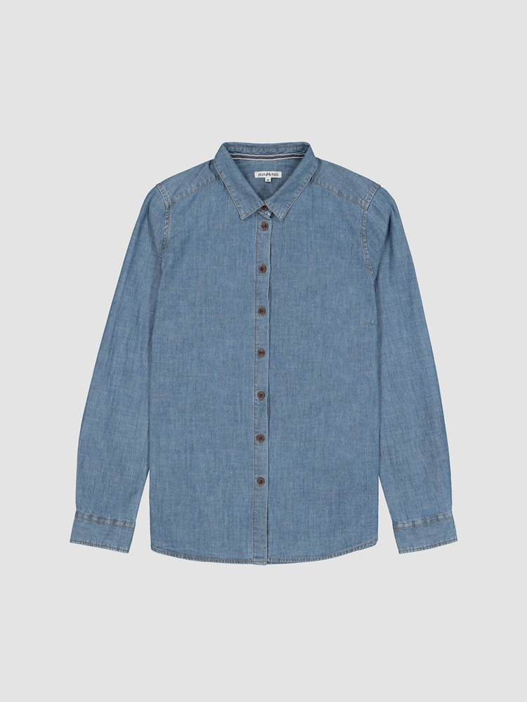 Rosi Chambray Skjorte 7238912_EN3-JEANPAULFEMME-A19-front_2472_Rosi Chambray Skjorte EN3_Rosi Chambray Shirt.jpg_Front||Front