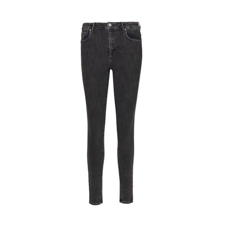 Sophia High Waist Cropped Blk. Powerstretch Jeans