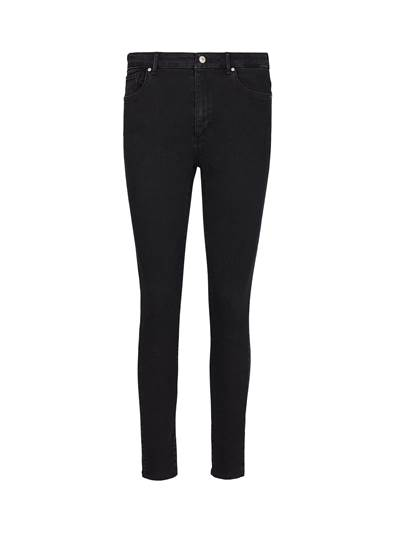 Sophia High Waist Cropped Blk. Blk. Powerstretch Jeans D03