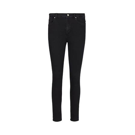 Sophia High Waist Cropped Blk. Blk. Powerstretch Jeans