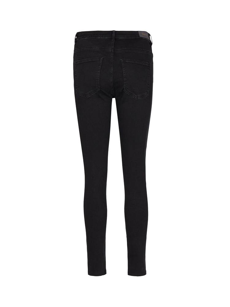 Sophia High Waist Cropped Blk. Blk. Powerstretch Jeans 7241177_D03-VAVITE-A19-front_88570_Sophia High Waist Cropped Blk._Sophia High Waist Cropped Blk. Blk. Powerstretch Jeans D03.jpg_Front||Front