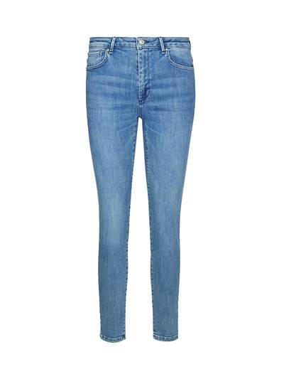 Sophia High Waist Cropped Mid Blue Powerstretch Jeans D06