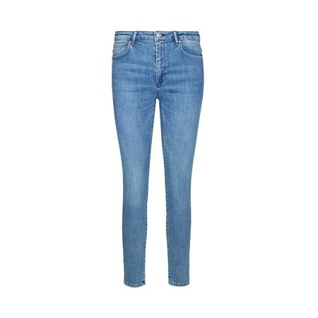 Sophia High Waist Cropped Mid Blue Powerstretch Jeans