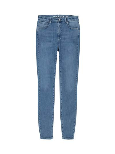 Sophia High Waist Mid Blue Powerstretch Jeans D06
