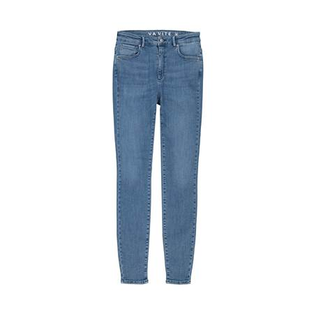 Sophia High Waist Mid Blue Powerstretch Jeans