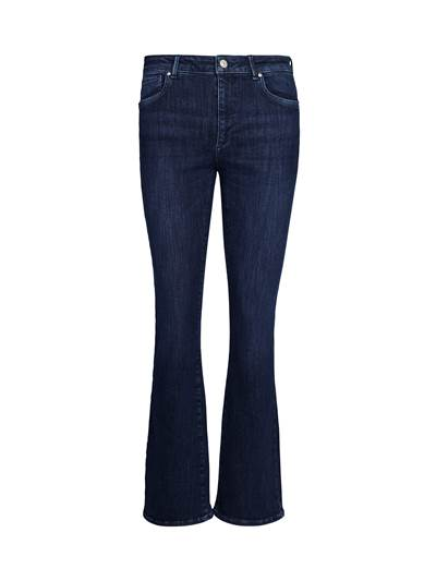 Sophia High Waist Flared Blue Powerstretch Jeans D04