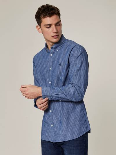 Brice Chambray Skjorte-Slim fit EGV