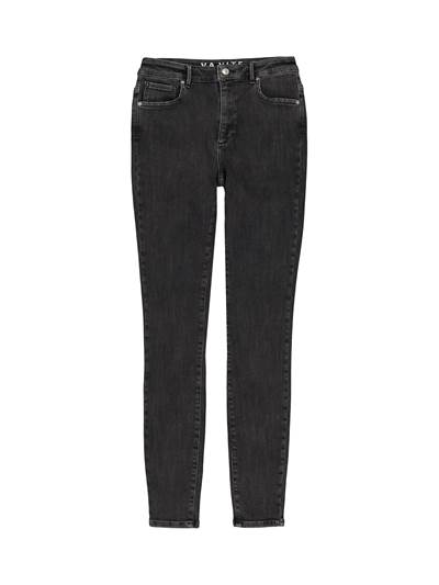 Sophia High Waist Blk. Powerstretch Jeans D05