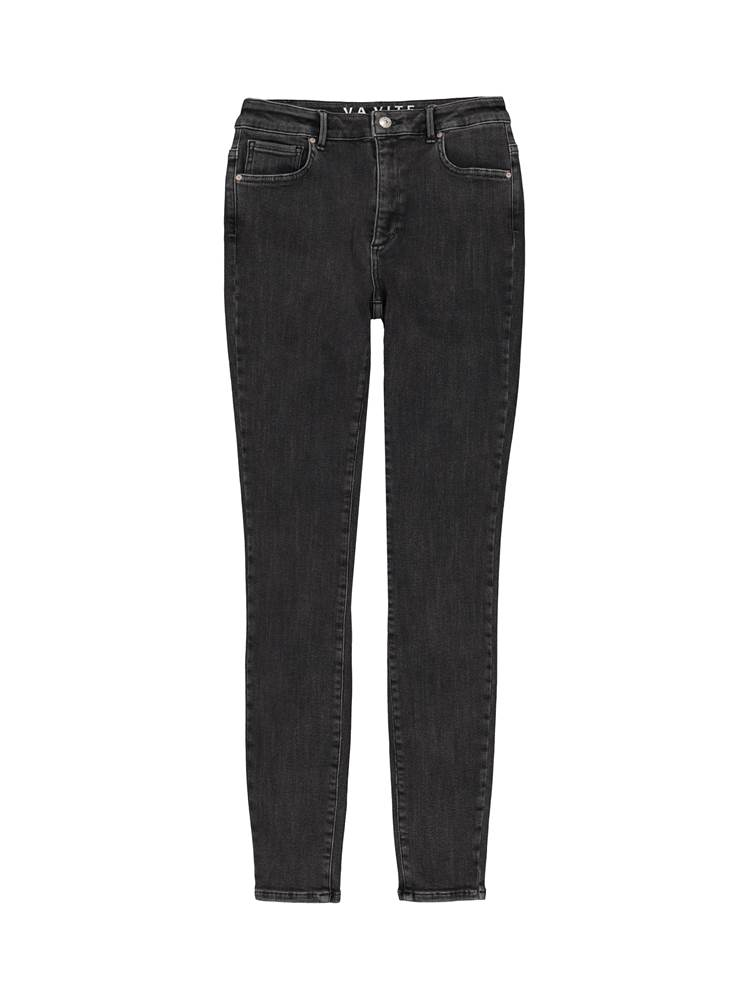 Sophia High Waist Blk. Powerstretch Jeans