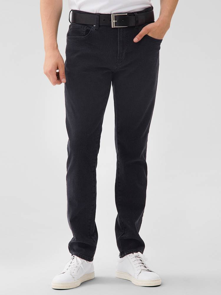 Slim Steve Blk.Blk Stretch Jeans