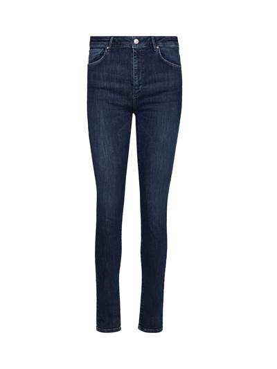 Sophia High Waist Cropped Blue Powerstretch Jeans D04