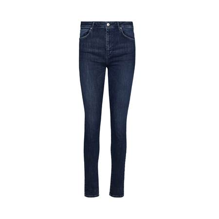 Sophia High Waist Cropped Blue Powerstretch Jeans