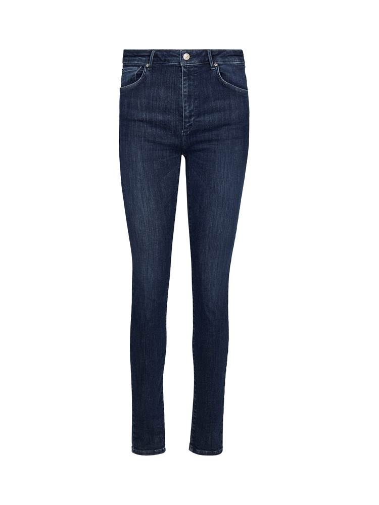 Sophia High Waist Cropped Blue Powerstretch Jeans 7241173_D04-VAVITE-A19-front_92747_Sophia High Waist Cropped Blue Powerstretch Jeans D04_Sophia High Waist Cropped Deep.jpg_Front||Front