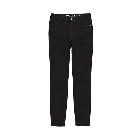 Sophia High Waist Cropped Blk.Blk Jeans