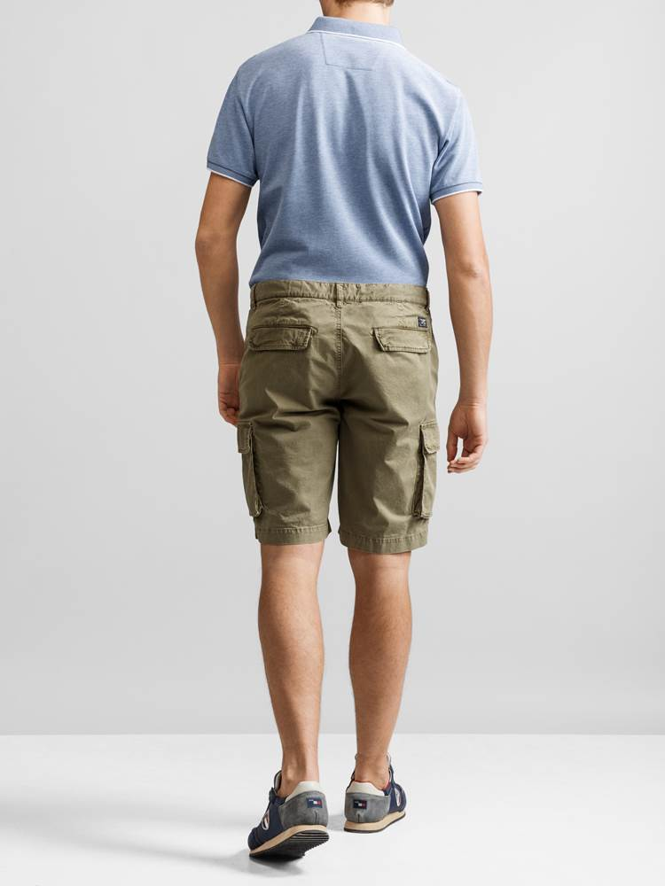 Mike Cargo twill shorts 7232238_JP52_MIKE CARGO TWILL BERMUDA_BACK_GMM_L_Mike Cargo twill shorts GMM.jpg_Back||Back