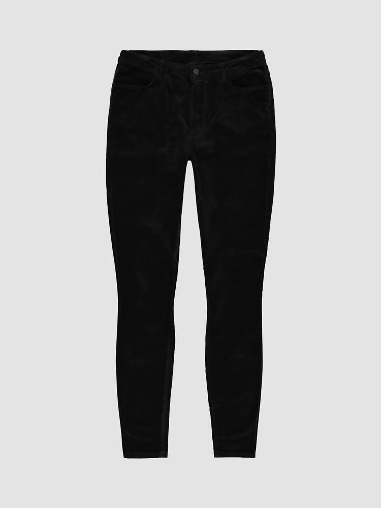 Ine Highwaist Velour Bukse