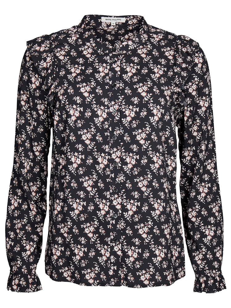 Flower Bluse 7235770_CAB-MARIE PHILIPPE-A18-front_Flower Bluse CAB_Flower Blouse.jpg_Front||Front