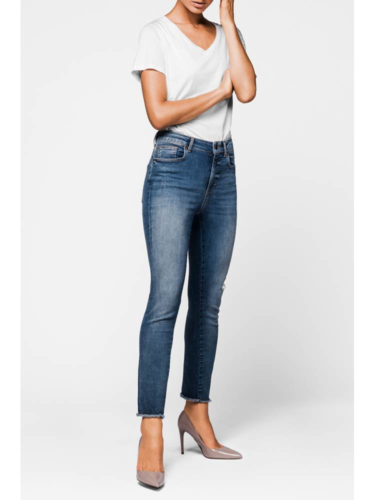Skinny Cropped Stretch Jeans 7235446_DAD-MCDONNA-A18-Modell-front_Skinny Cropped Stretch Jeans DAD.jpg_Front||Front