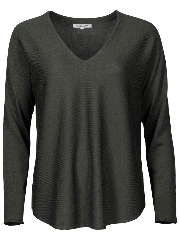 Sophia Genser 7234669_GPJ-MARIE PHILIPPE-A18-front_Sophia Genser GPJ_Sophia V-Neck Sweater.jpg_Front||Front