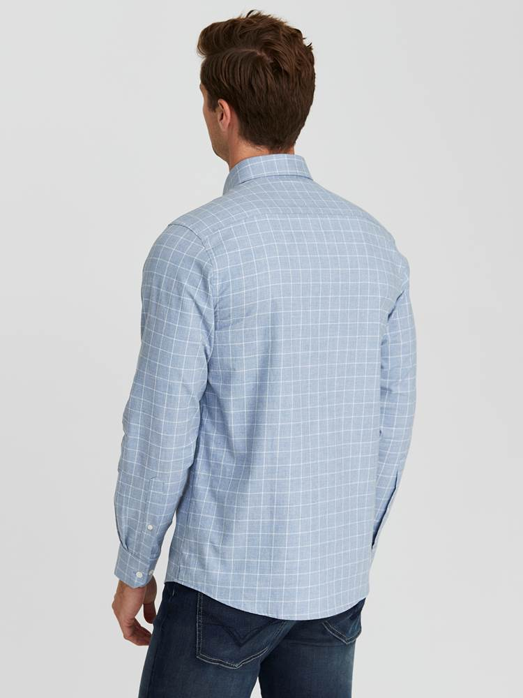 Marc Twill Skjorte - Regular Fit 7244257_E9O-JEANPAUL-A20-Modell-back_19315_Marc Twill Skjorte - Regular Fit E9O.jpg_Back||Back