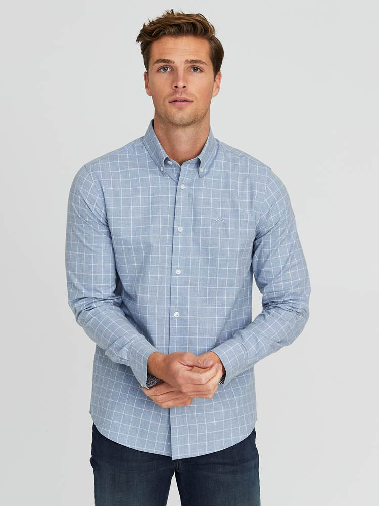 Marc Twill Skjorte - Regular Fit 7244257_E9O-JEANPAUL-A20-Modell-front_3579_Marc Twill Skjorte - Regular Fit E9O.jpg_Front||Front