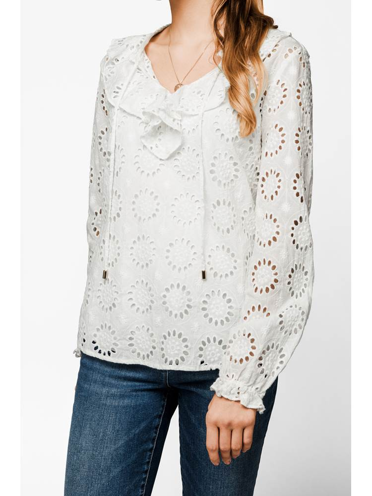 Claria Blonde Bluse 7236993_O79-MARIE PHILIPPE-S19-modell-front.jpg_Front||Front